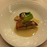 レストラン プランタン - スズキのポワレ アンチョビバターソース