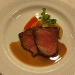 レストラン プランタン - バベットステーキ マデラ酒ソース