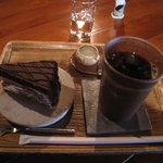 楽風 - アイスコーヒー洋菓子セット