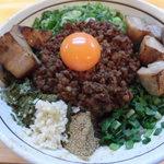 濃厚担々麺 はなび  - ド肉台湾まぜそばアップ
