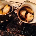 座いっく - サザエの壺焼き(肝も最高)