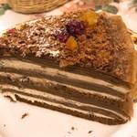 オールド・ローズ・ガーデン - チョコミルクレープ