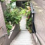 74736832 - お店に行く階段