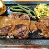 ハングリータイガー - 料理写真:オリジナルハンバーグステーキ(220g)レギュラーセット 1690円
