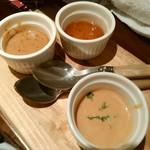 """Sacree Fleur - お肉につける""""ブルーチーズソース・ペッパーソース・オニオンソース"""""""