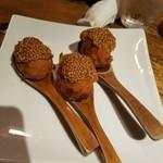 味とく家 - バームクーヘン豚の巻き揚げ