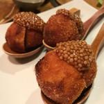 味とく家 - バームクーヘン豚の葡萄巻き揚げ