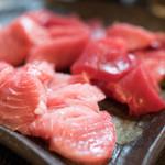 よねさん - 料理写真:2017.10 戸井の鮪刺し(1,200円)×3