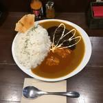 74746986 - 赤黒ハーフ&ハーフ  ¥900 ルー大盛り+¥50 ご飯大盛り無料