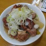 馬力 - すじ煮込み(塩味・柚子胡椒付)390円(税抜)