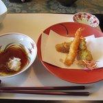 フォレストイン伊万里 レストラン - 次は季節の天ぷらが運ばれてきました、さすが和洋折衷