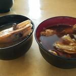 赤坂 鮨兆 - お味噌汁が二種付く