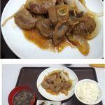 あずまし亭 - ジンギスカン定食。出張店舗。函館朝市あずまし亭(北海道)