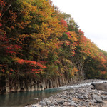 74750815 - 【2017.10月上旬】松川玄武岩・渓谷①※「松川荘」から車で5分位の所です。
