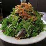 俺のやきとり - シンプルなグリーンサラダ480円+税、驚愕のボリューム
