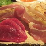 地鶏の鶏膳 - 砂肝、もも肉