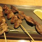地鶏の鶏膳 - 地鶏、砂肝、ハツ