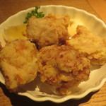地鶏の鶏膳 - モモ唐揚げ