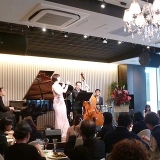 ジャズの生演奏とともに最高の記念日を。
