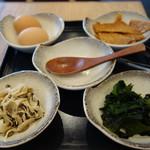恵比寿 箸庵 - トッピングの具材