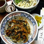 おかだや - うなぎまぶし丼、麺付き830円