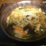 伝丸 - 野菜ラーメン(塩)   800円