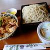 """田奈加 - 料理写真:""""天丼セット/おそば大盛り"""""""