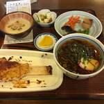 食事処 下山の里 - 五平餅ミニ麺(そば)定食 ¥980-