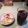イタリア風家庭料理 パスト - 料理写真:セットのサラダとアイスコーヒー('17/10/14))