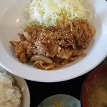 らーめん 梵天 今市店 - 豚生姜焼き定食 ¥800