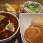 スープ食堂 パーチ - 牛筋ビーフシチューセット980円パンかライスを選べます