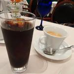 リストランテ カノビアーノ - ◆ホットコーヒーとアイスコーヒー。