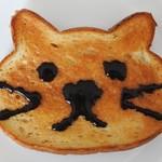 ベーカリー&カフェ ブルージン - いろねこ食パンお絵描き①