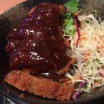 游月 - 和牛かつめしセットのかつめし♫デミグラスソースの味がご飯を胃に流し込んでくれますw