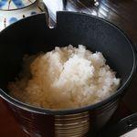 きむかつ舎しゃり銀 - 「炊きたてご飯」