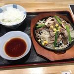 焼肉園 花牛 - 北海道産サフォークラムのジンギスカン定食1500円