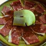 桃李庵 - ひちりん定食の皇牛肉