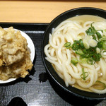 Nihombashisanukiudonhoshino - かけうどん(大)+舞茸天