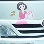 近江屋洋菓子店 - 配達の車にもおねえさんの絵が。