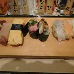寿司 魚がし日本一 - のこりの5貫