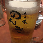 もつ焼のんき - 生ビール500円