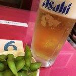 中華料理 愛福楼 - 生ビールとお通し