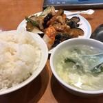 口福館 - 豚肉と茄子の味噌炒め定食 ライス大盛り