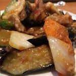 口福館 - 豚肉と茄子の味噌炒め