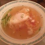 メルヘン - 温泉卵?入りのスープです♪