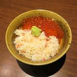 北の味紀行と地酒 北海道 - 蟹いくら丼