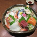 北の味紀行と地酒 北海道 - お刺身彩り盛り
