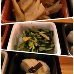 74788605 - 漬け物 お好きな3個セット 730円税込み 上から 筍、壬生菜、大根