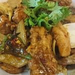 中華料理 八戒 - 蝦夷鹿のバラ肉がたっぷり!