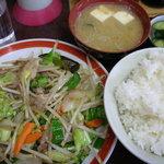 三祐 - 野菜炒め定食 550円